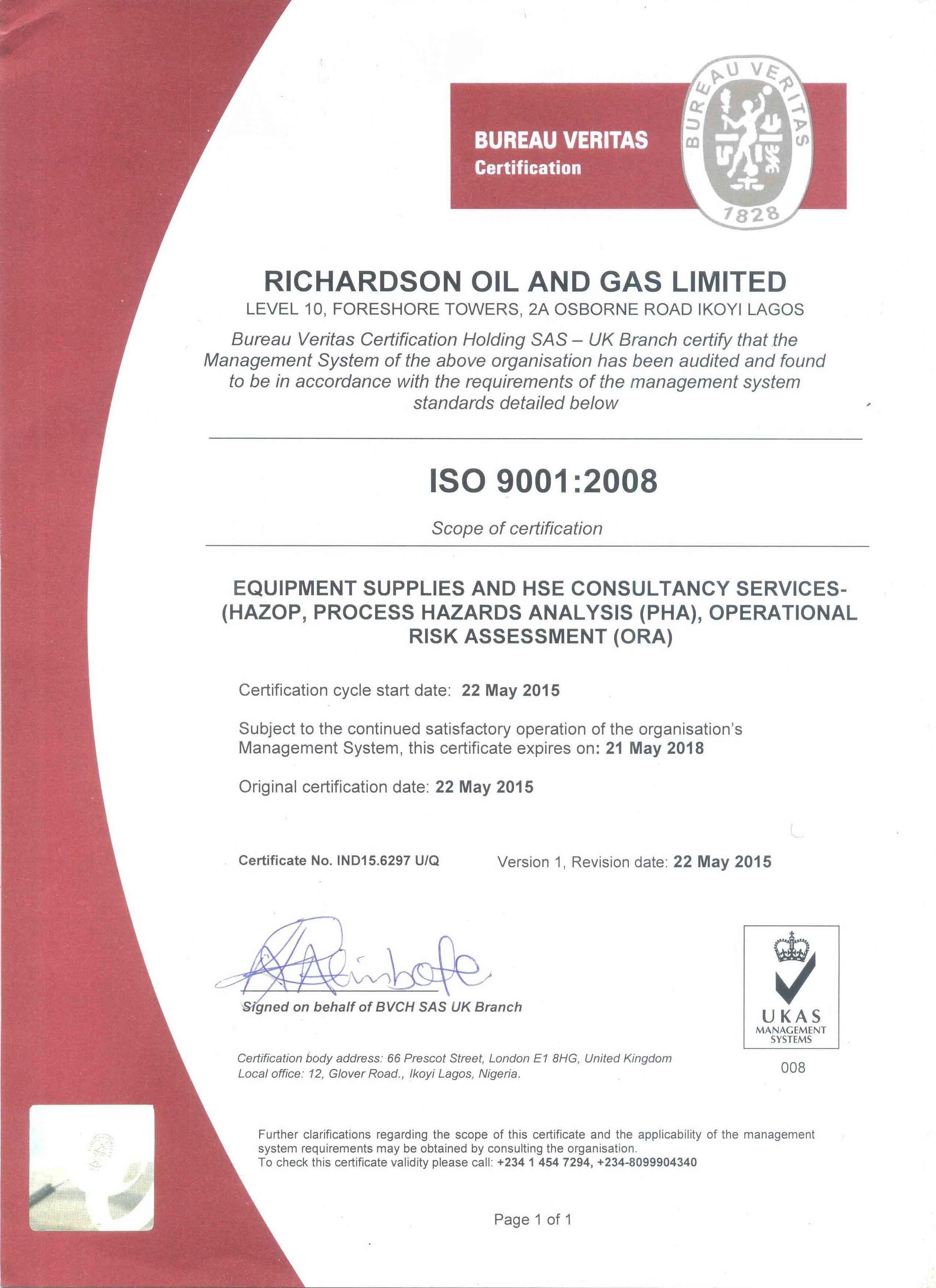 Richardson ISO 9001:2008